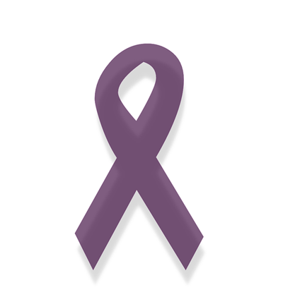 Purple awareness ribbon for online