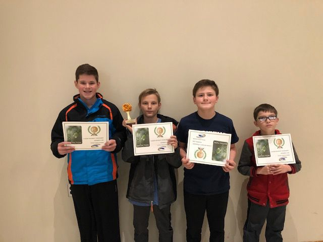 Elementary team at Edge of Extinction competition