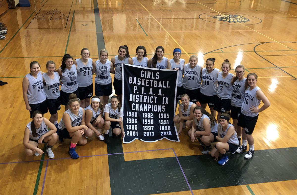 Brookville girls BB D9 title banner