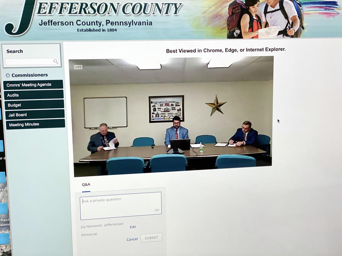 Jefferson Co. officials begin virtual meetings