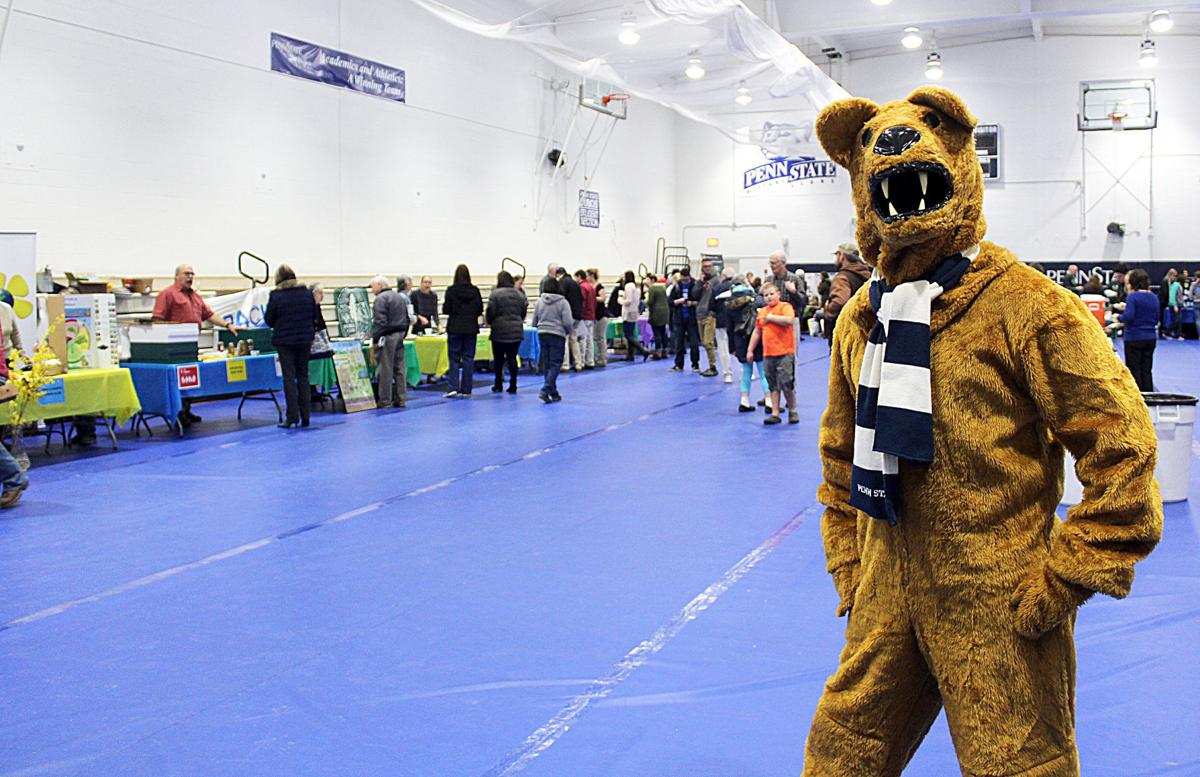 Nittany Lion at Earth Day event