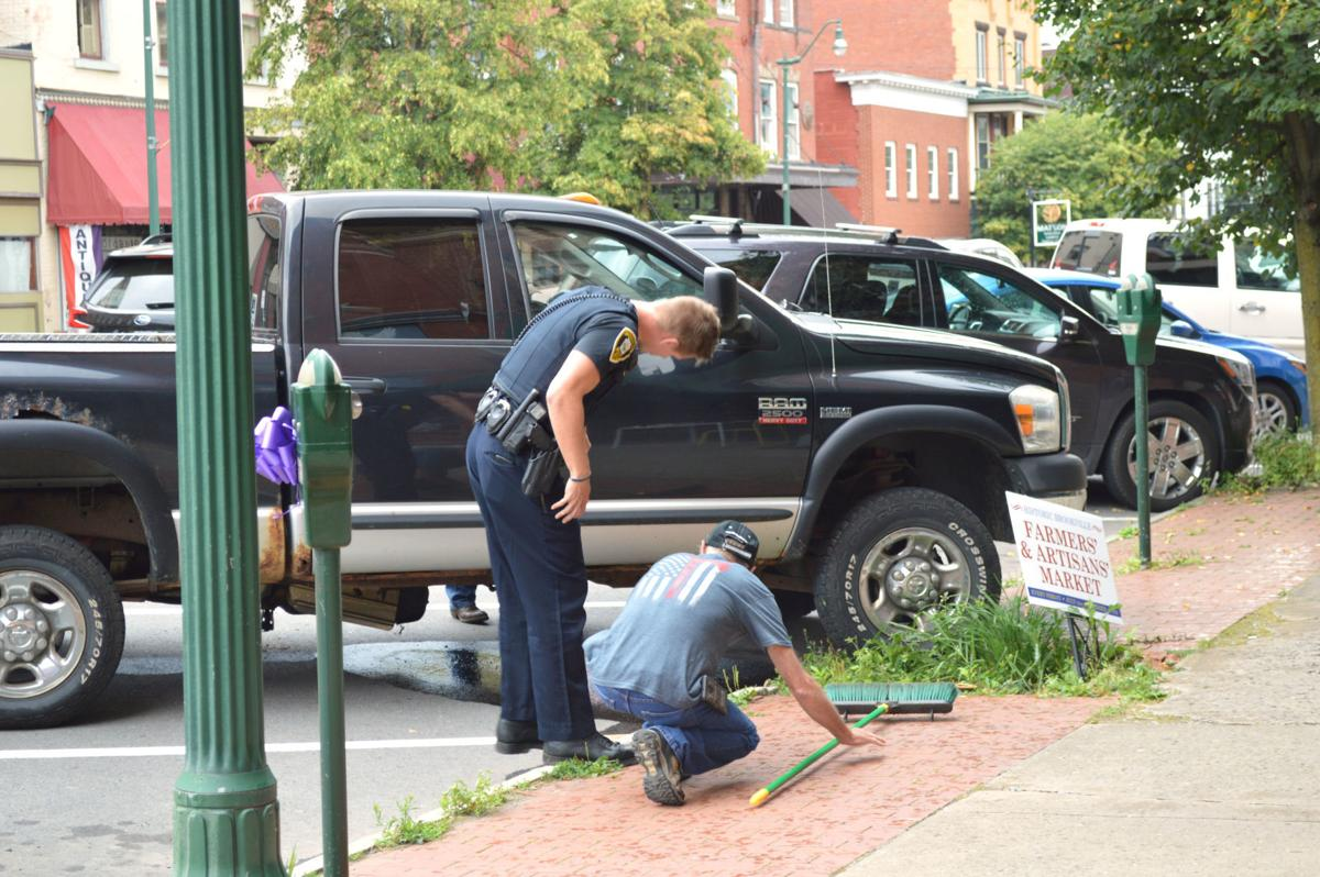 Fuel spill in downtown Brookville