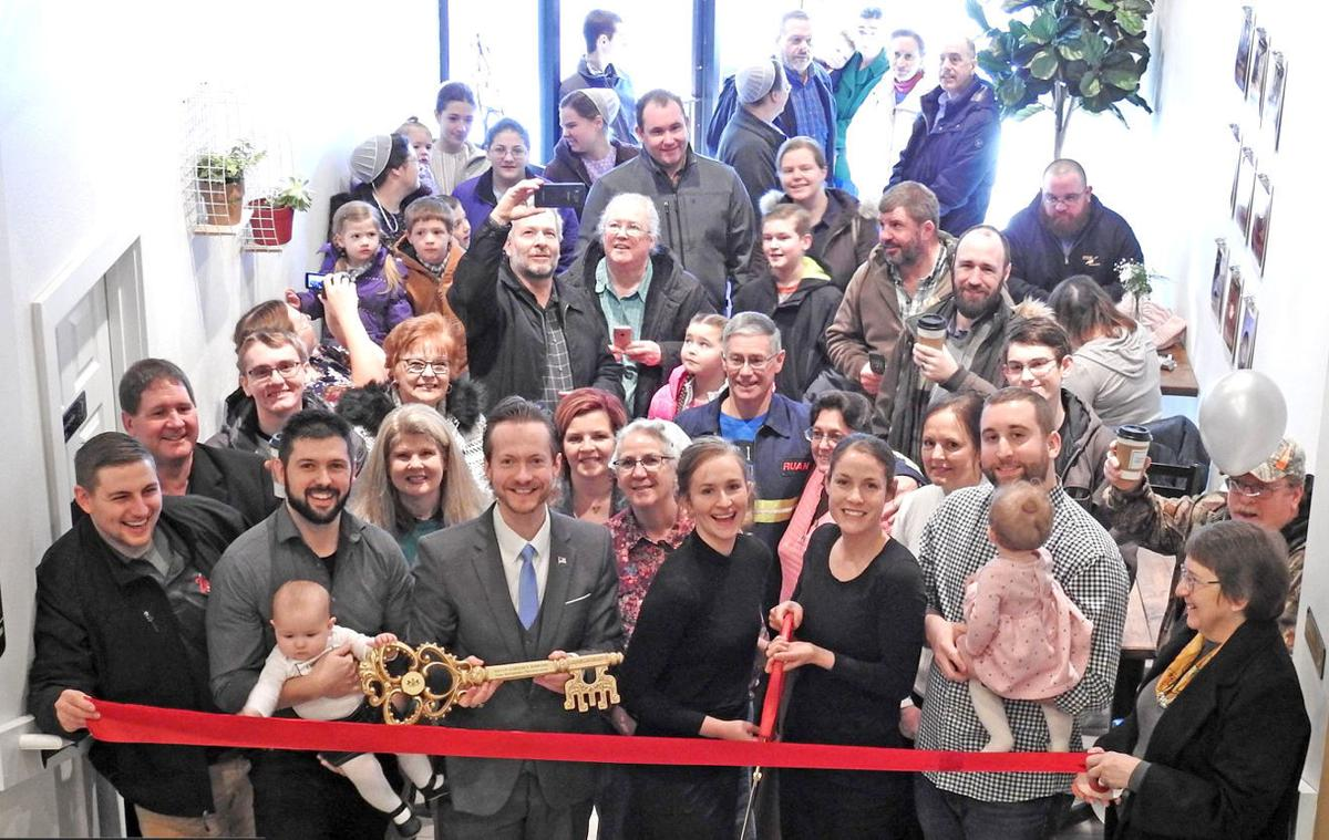 Coffee Ribbon Cutting