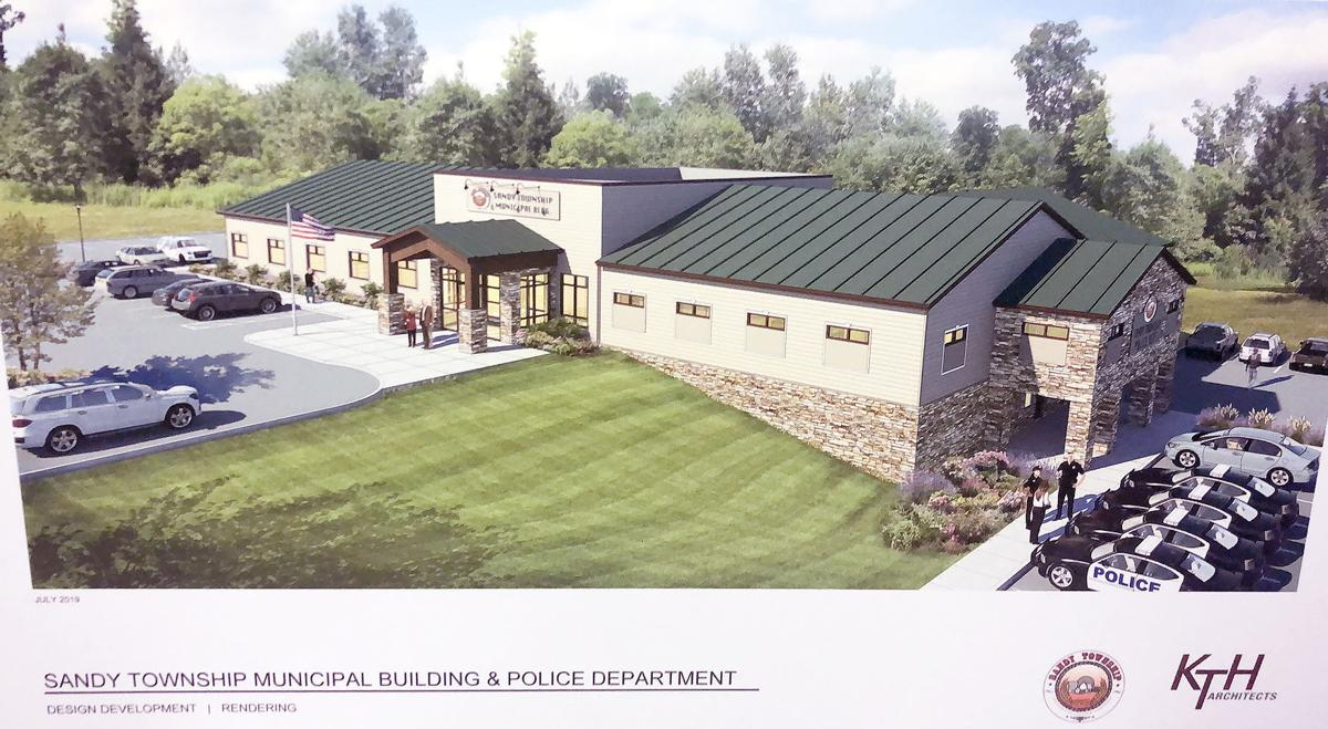 Proposed new municipal building in Sandy Township