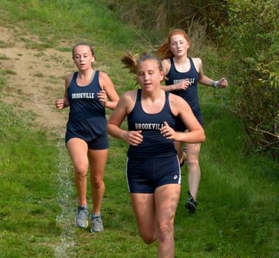 Brookville girls XC trio