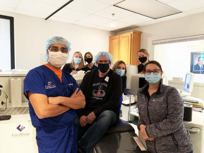 Dr. Parekh, Keith Wells and staff