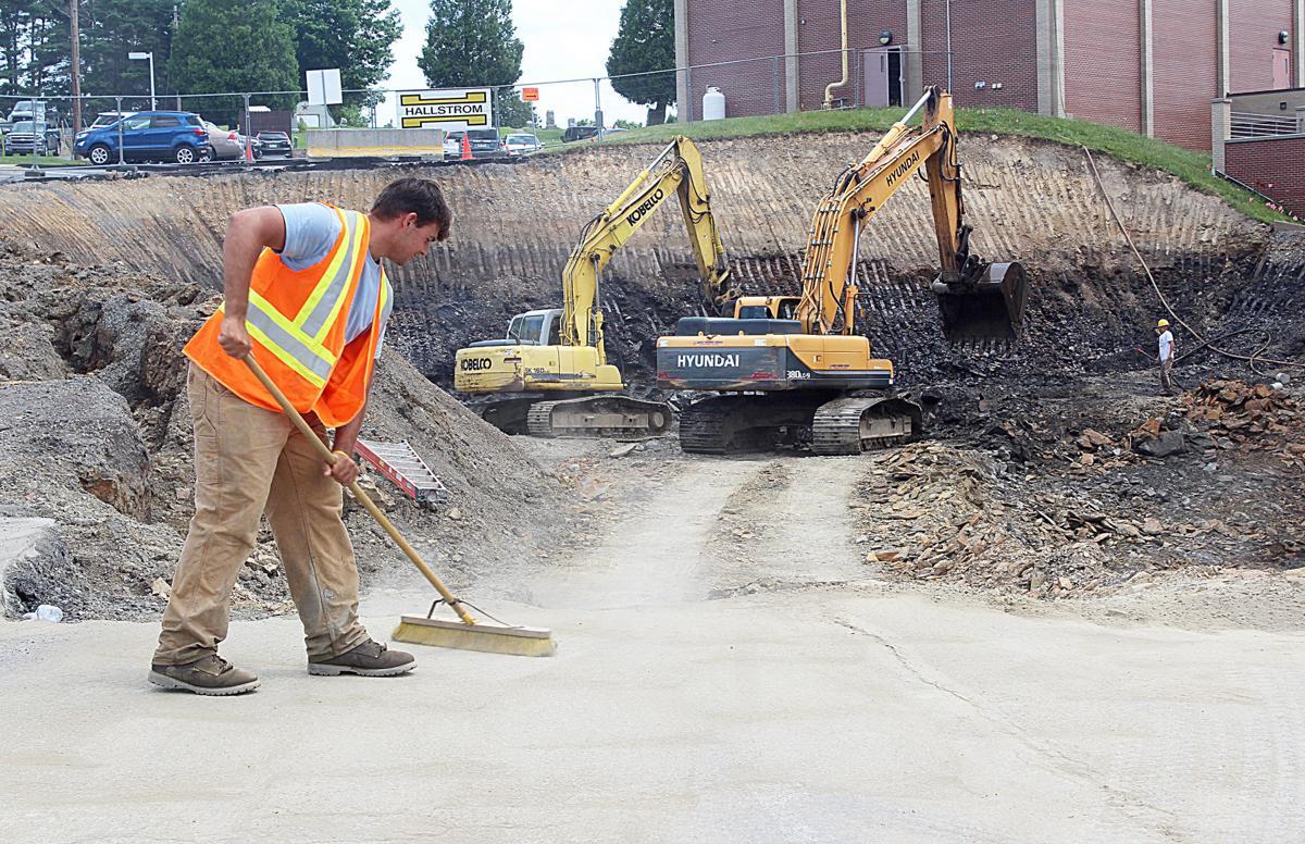 West Wing Annex construction under way