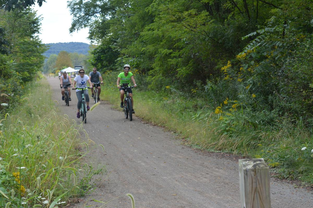 Bikers on the trail