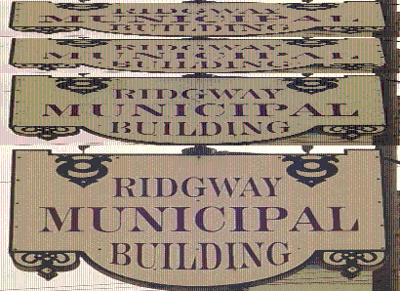 Ridgway Municipal Building logo for online