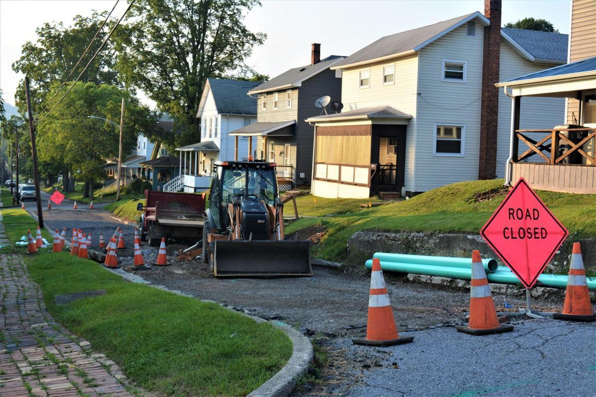 Grant Street Sewer line