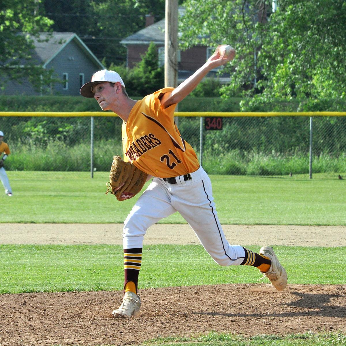 Brady Schneider pitch vs. Bishop McCort