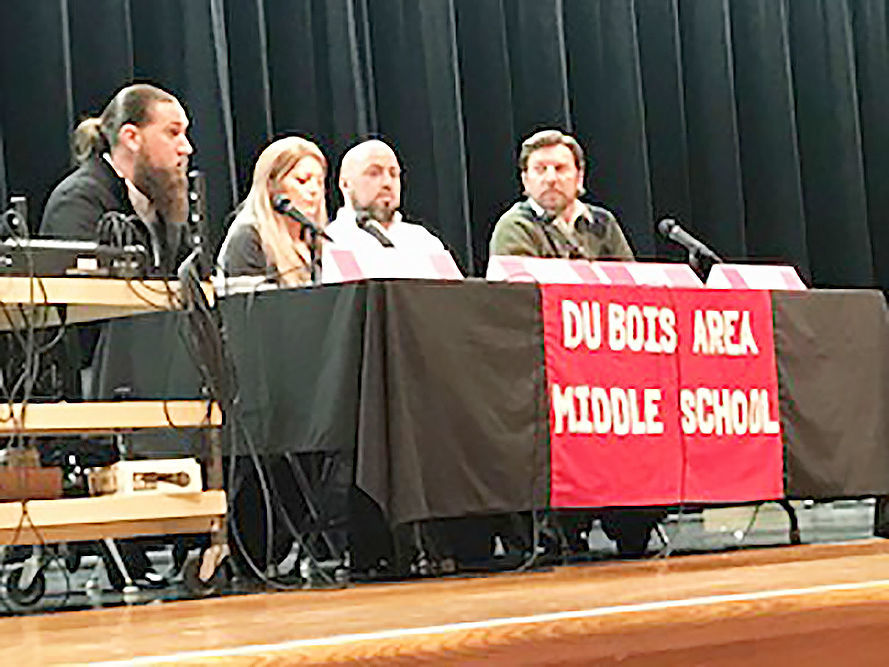 Community panel discusses careers with DuBois Area School District students