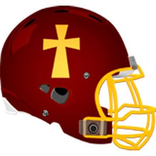 Elk Co. Catholic helmet