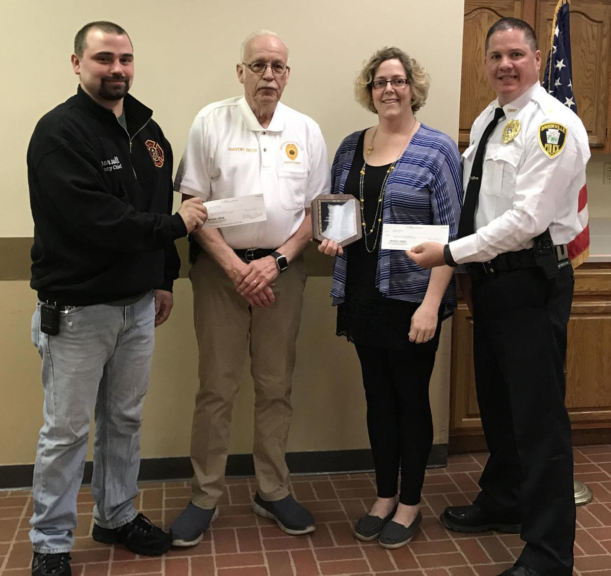 Donating to the borough police and fire departments