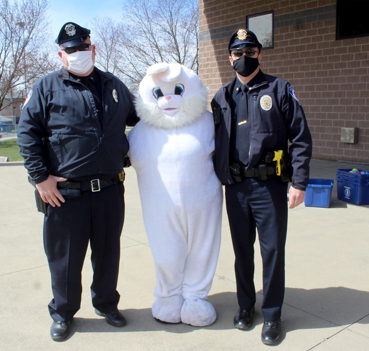 Police with Easter Bunny