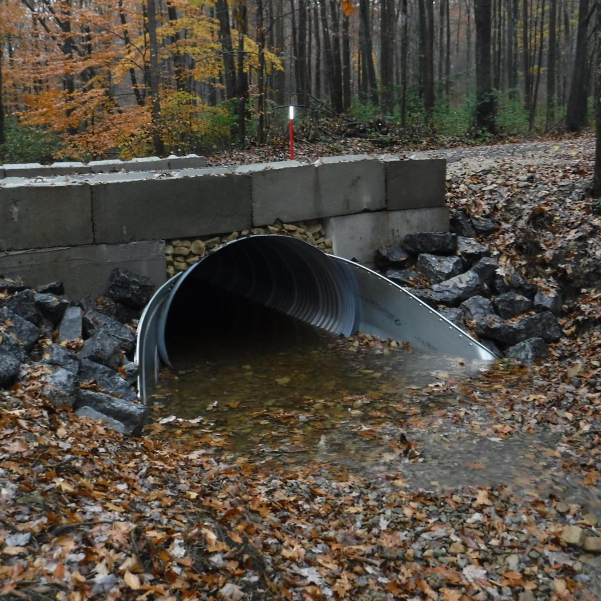 Heath Twp - Spring Creek Road - Stream crossing outlet - After