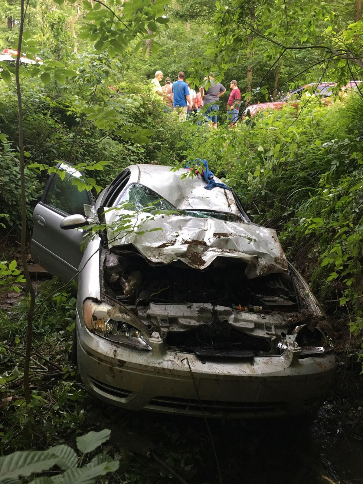 Scribbers Road crash sends four into Clearfield Creek