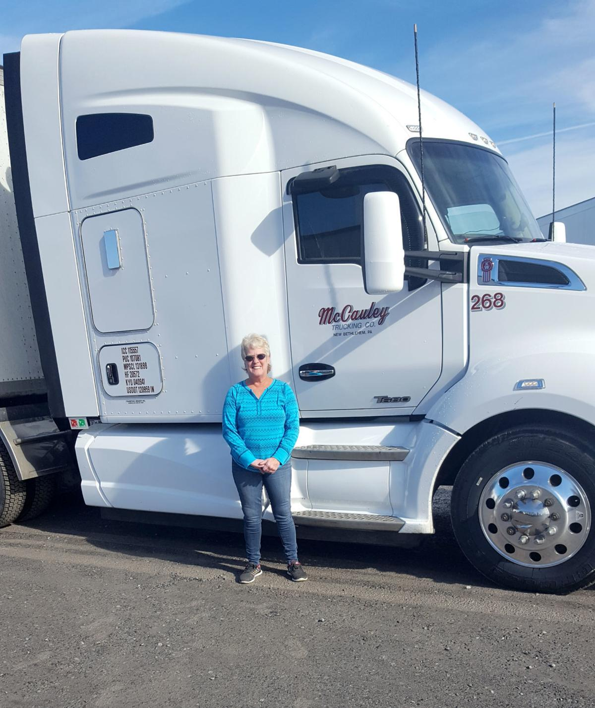 Shumaker with 'her' truck