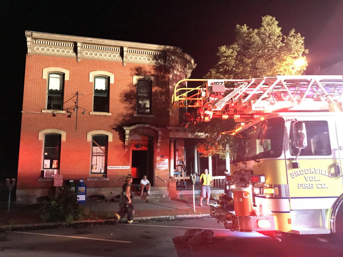 Fire in historic building in downtown Brookville