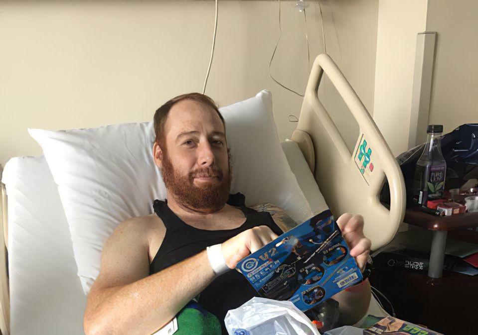 James Lee at hospital