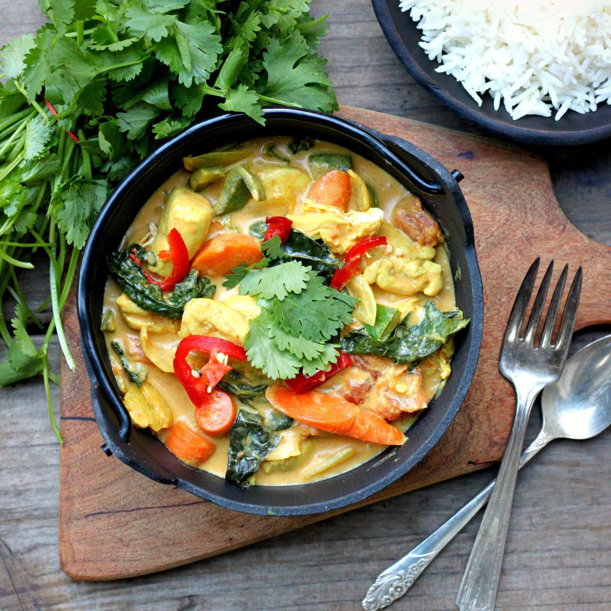 Coconut Chicken Vegetable Curry