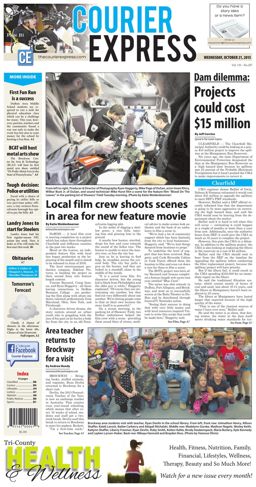Today's Front Page