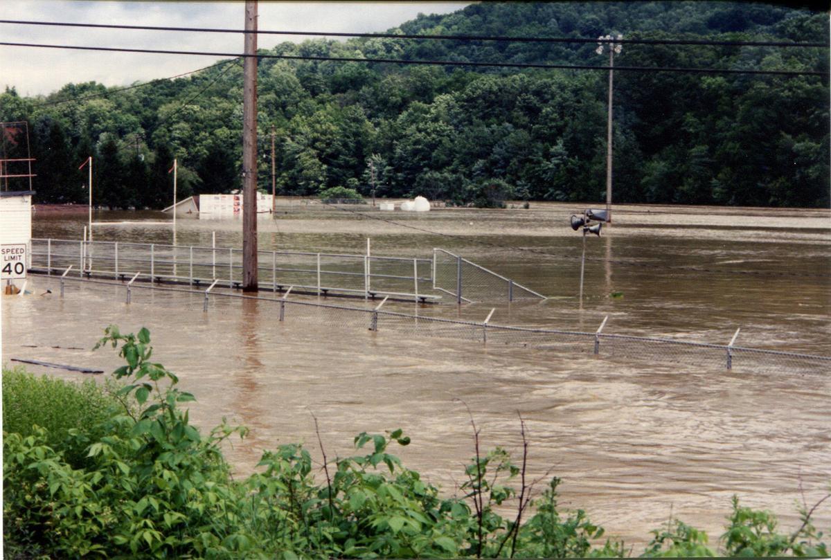Flooded football field 1996
