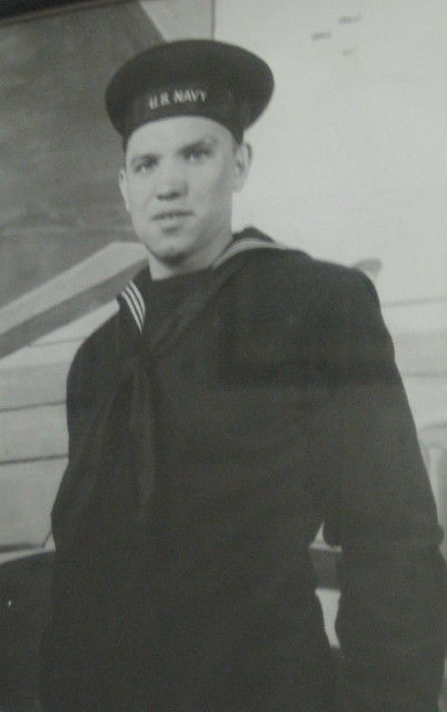 Stephen Fairman in his U.S. Navy uniform