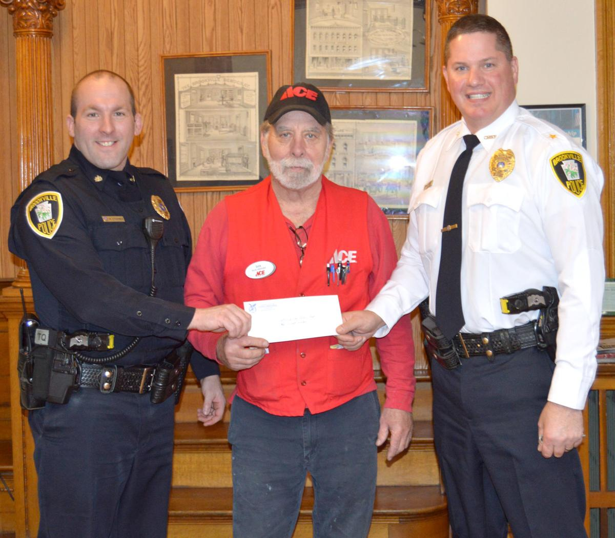 Brookville Eagles donate $10,000 to borough police department