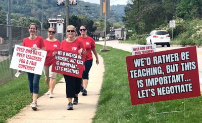 L-V VIDEO: Redbank Teachers Strike