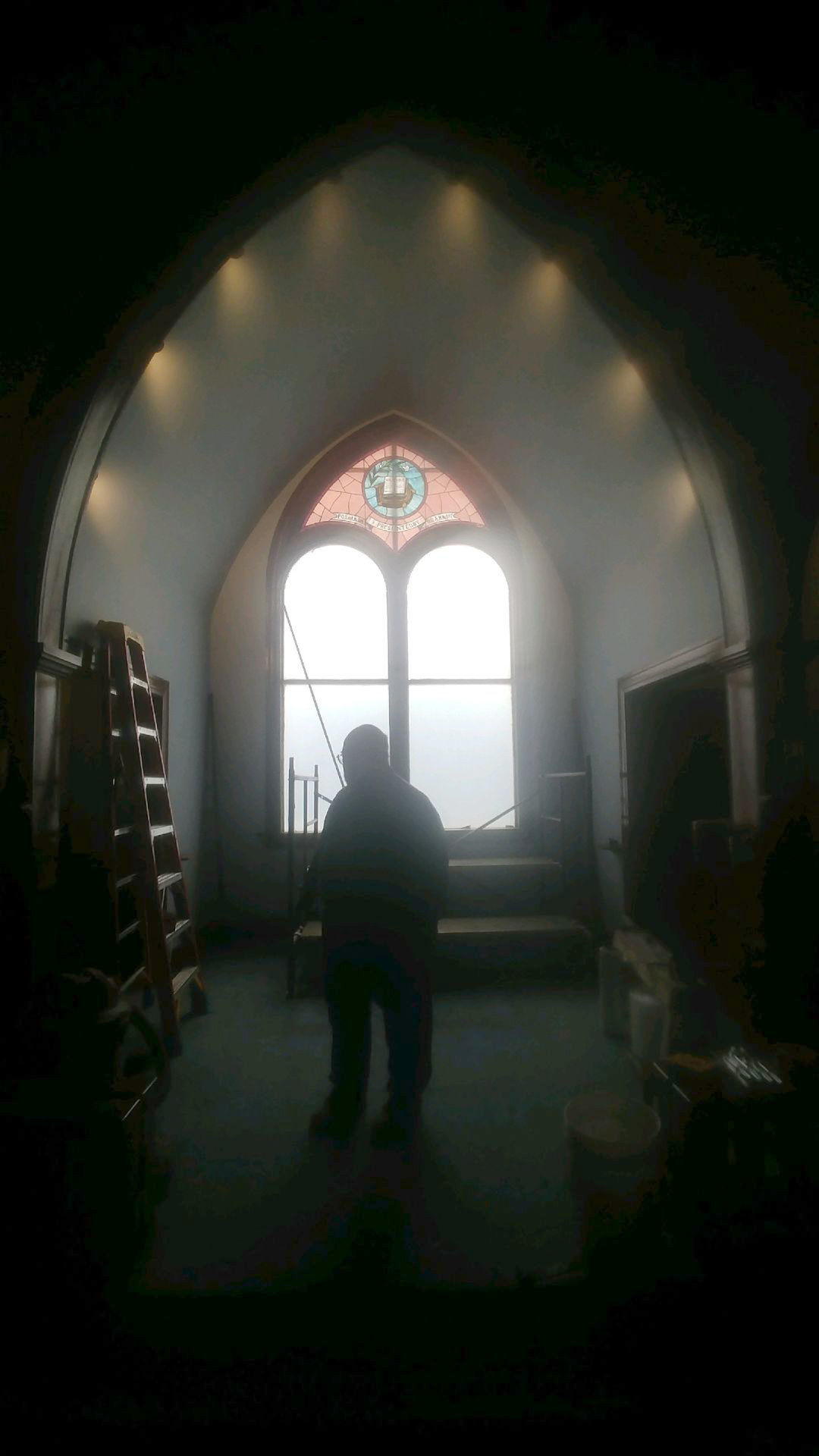 Lutheran Church removes stained glass windows