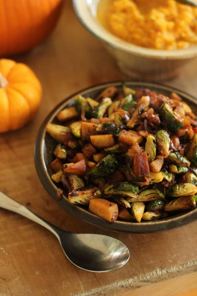Lighter bacon Brussels sprouts without loss of flavor, texture