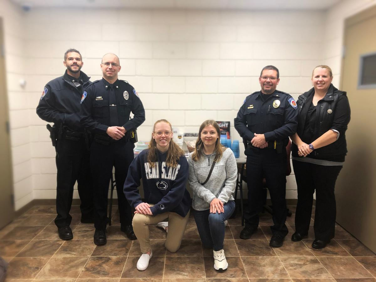 Penn State students and Sandy Township Police