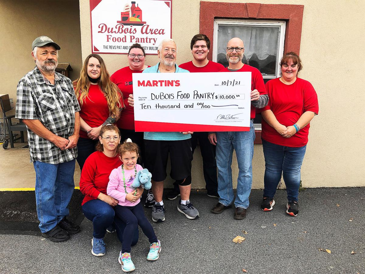 Donation to food pantry