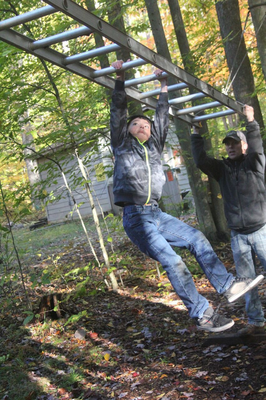 Boy Scout monkey bars