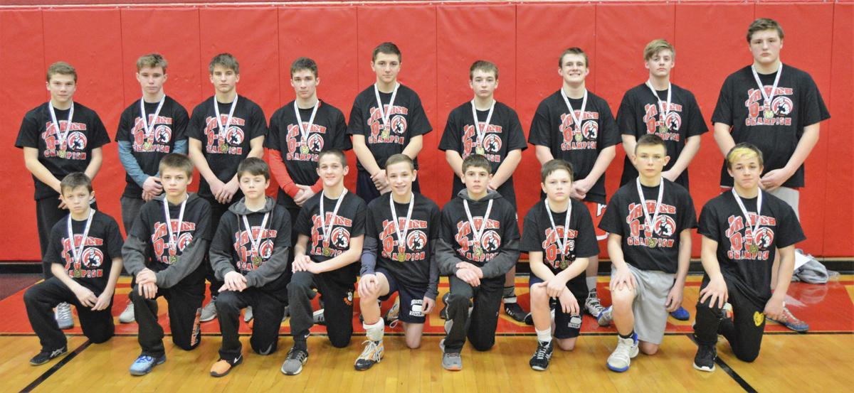 D-9 Jr. High wrestling champions