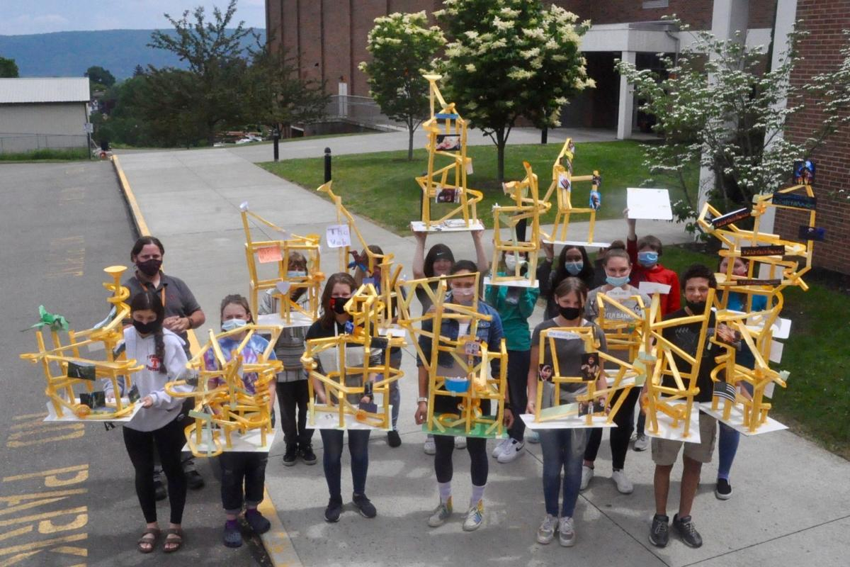 Towanda eighth graders engage in STEM paper roller coaster competition