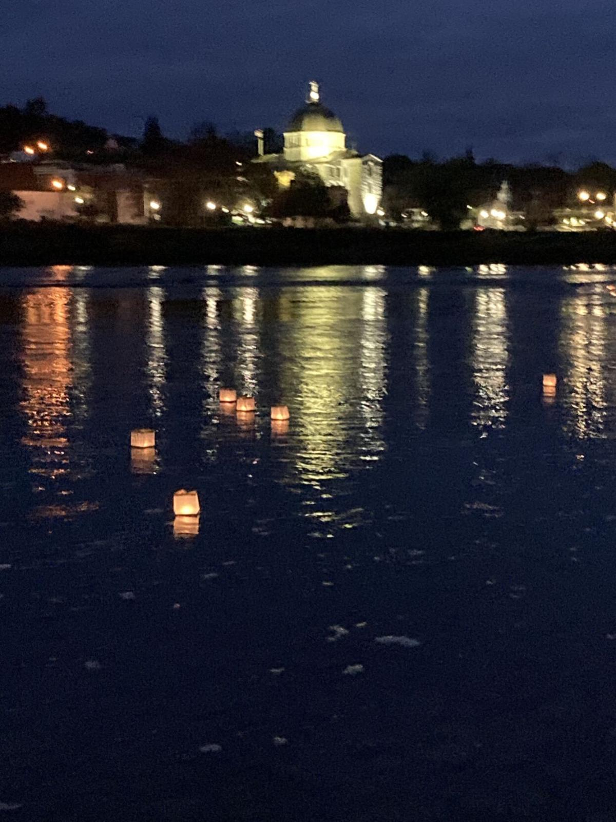 Water lanterns light up the Susquehanna for cancer