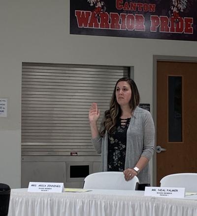 Canton Board of Education swears in new member