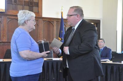 Retiring secretary recognized for 45-plus years