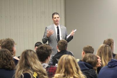 Creative ideas and corduroy jackets; Owlett visits Bradford County FFA