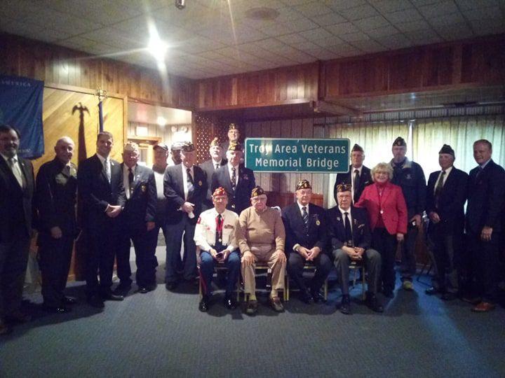 Troy bridge dedicated in honor of Bradford County veterans