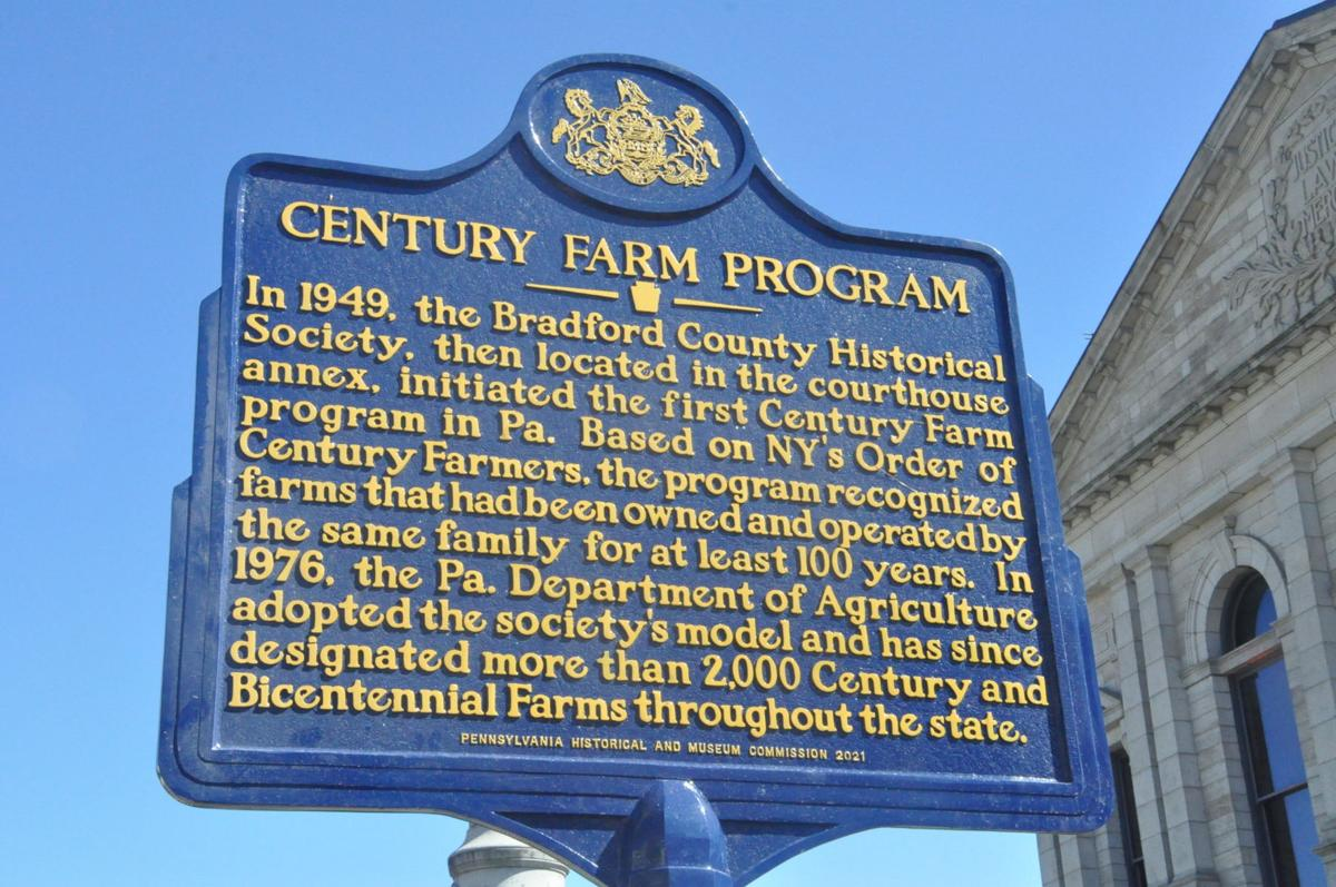 New historical marker recognizes Bradford County's role in state farm recognition
