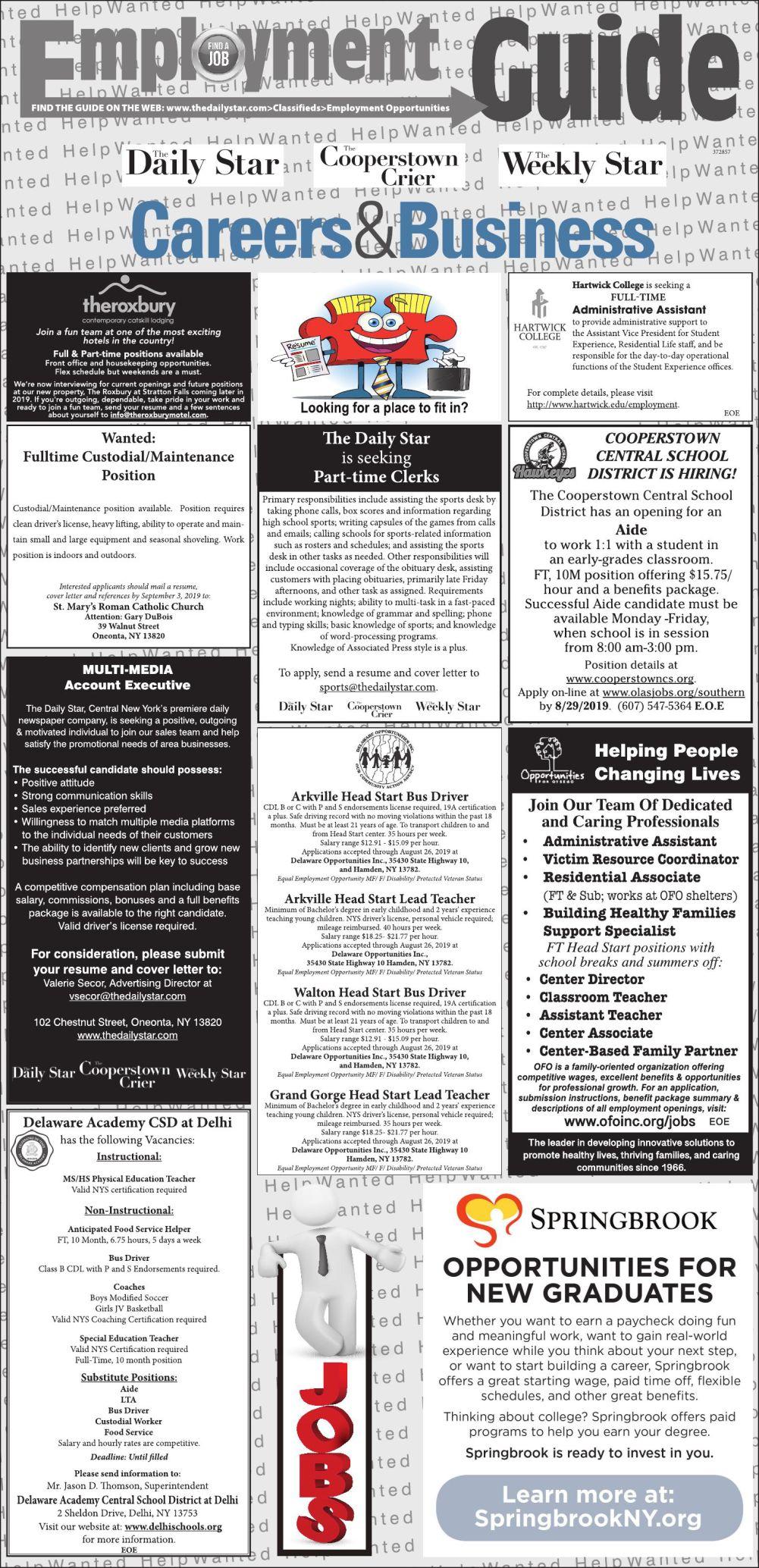 Employment Opportunities 8/24/2019