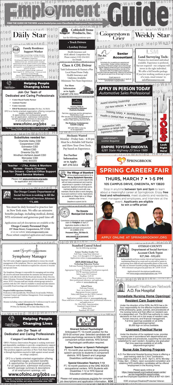 Employment Opportunities 2/23/2019