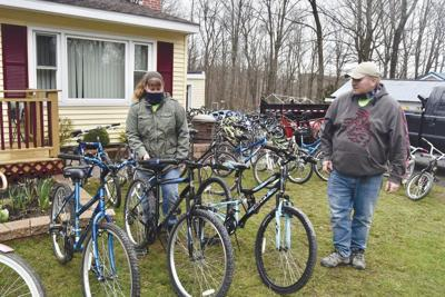 Local couple buys, restores dozens of bikes for kids
