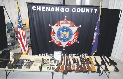 Chenango deputies seize guns, drugs in morning raid
