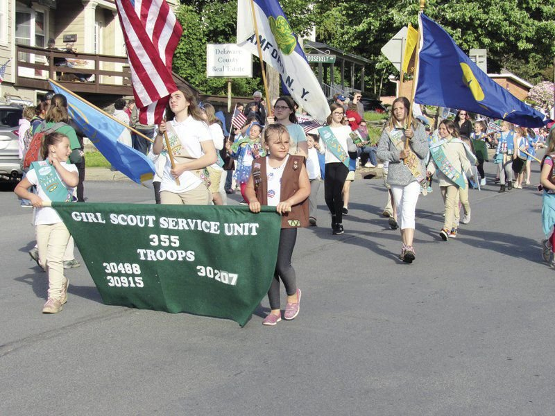 Large crowd turns out to salute Flag Day Parade