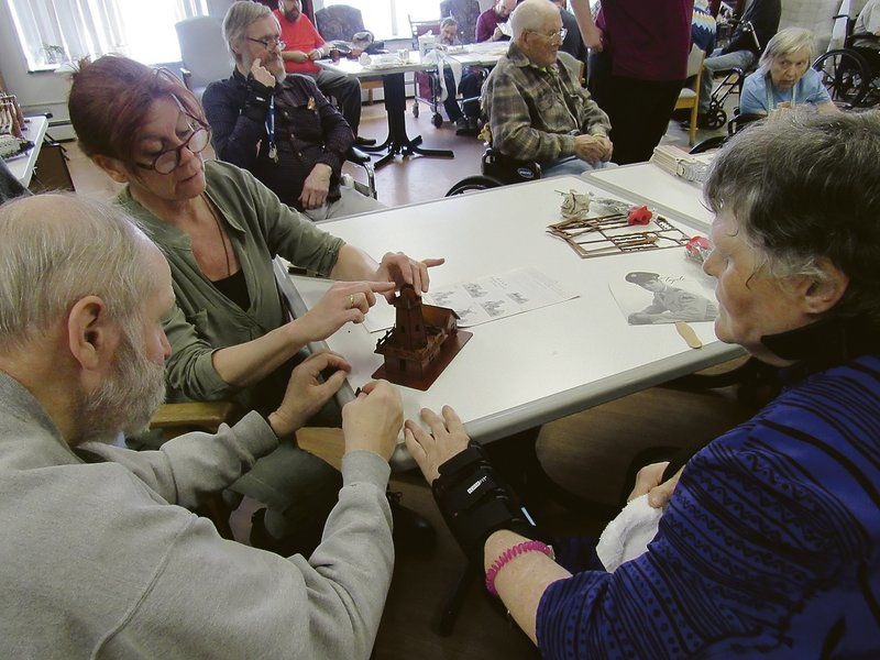 3D puzzlesoffer brain tease to Chestnut Park residents