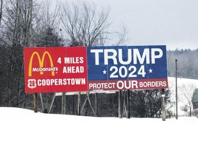 Milford officialsfeud over Trump billboard
